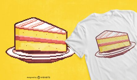 Pixel cake t-shirt design