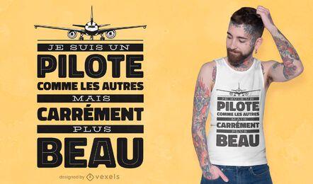 Projeto de camiseta piloto francês