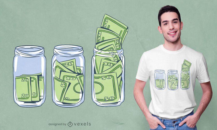 Dollar bill jars t-shirt design