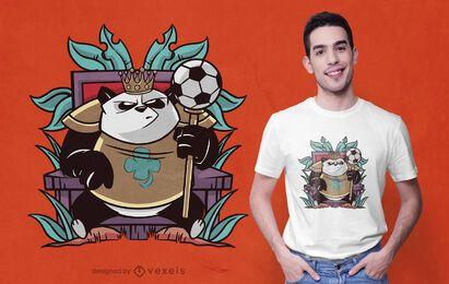 Diseño de camiseta de panda real