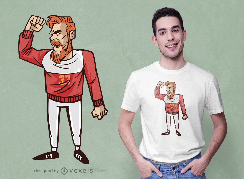 Design de camiseta para jogador de handebol