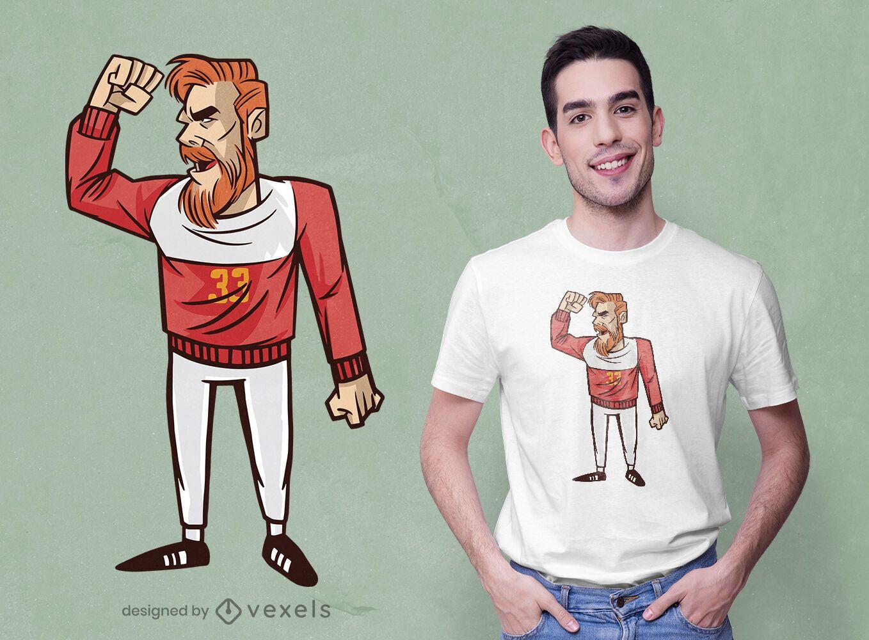 Handball player t-shirt design