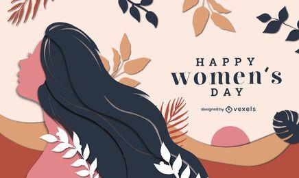 Ilustración del día de la mujer feliz