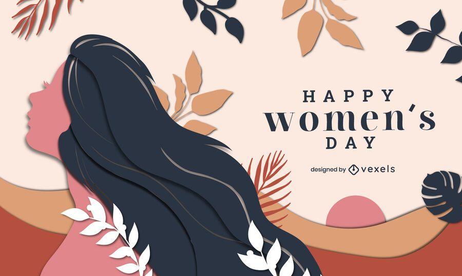 Ilustração do feliz dia da mulher