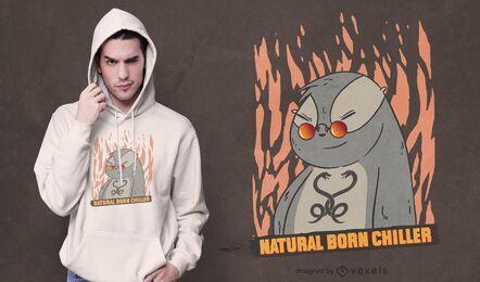 Diseño de camiseta natural born chiller.