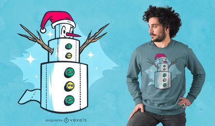 Snowman toilet paper t-shirt design