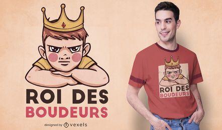 Diseño de camiseta King of the sulkers