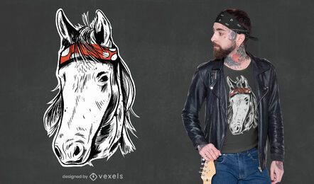 Horse hand drawn t-shirt design