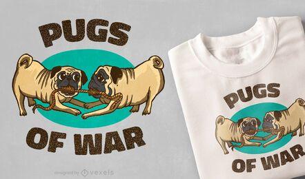 Design de camisetas dos Pugs de guerra