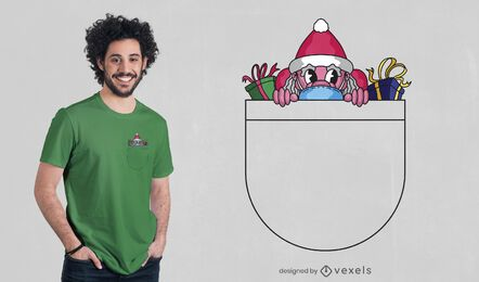 Design de t-shirt de bolso do Pai Natal