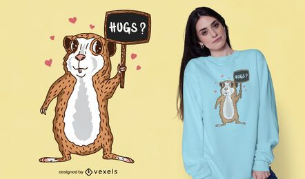 Guinea pig hugs t-shirt design