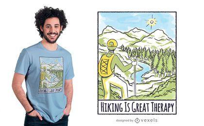 Caminhada é design de camiseta terapêutica