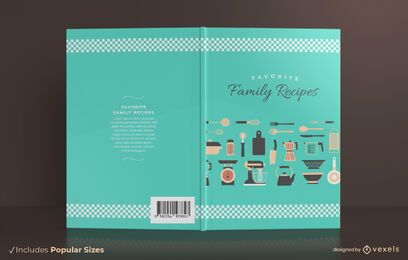 Family recipes book cover design
