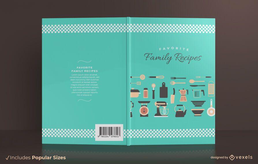 Design de capa de livro de receitas de família