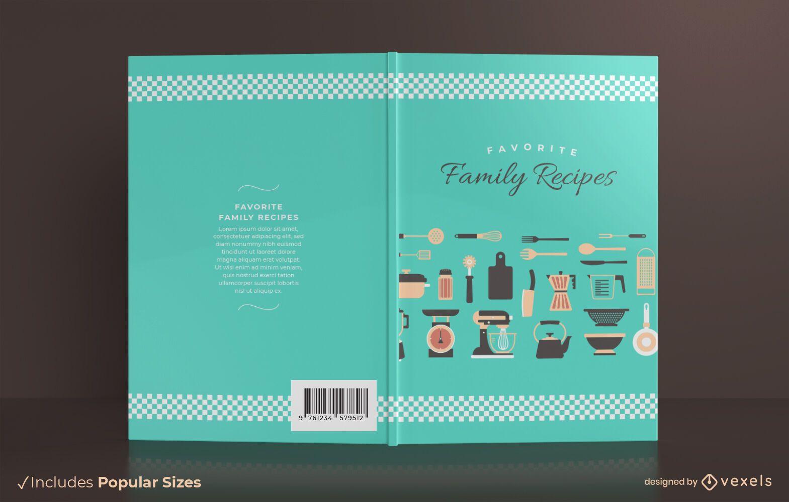 Diseño de portada de libro de recetas familiares