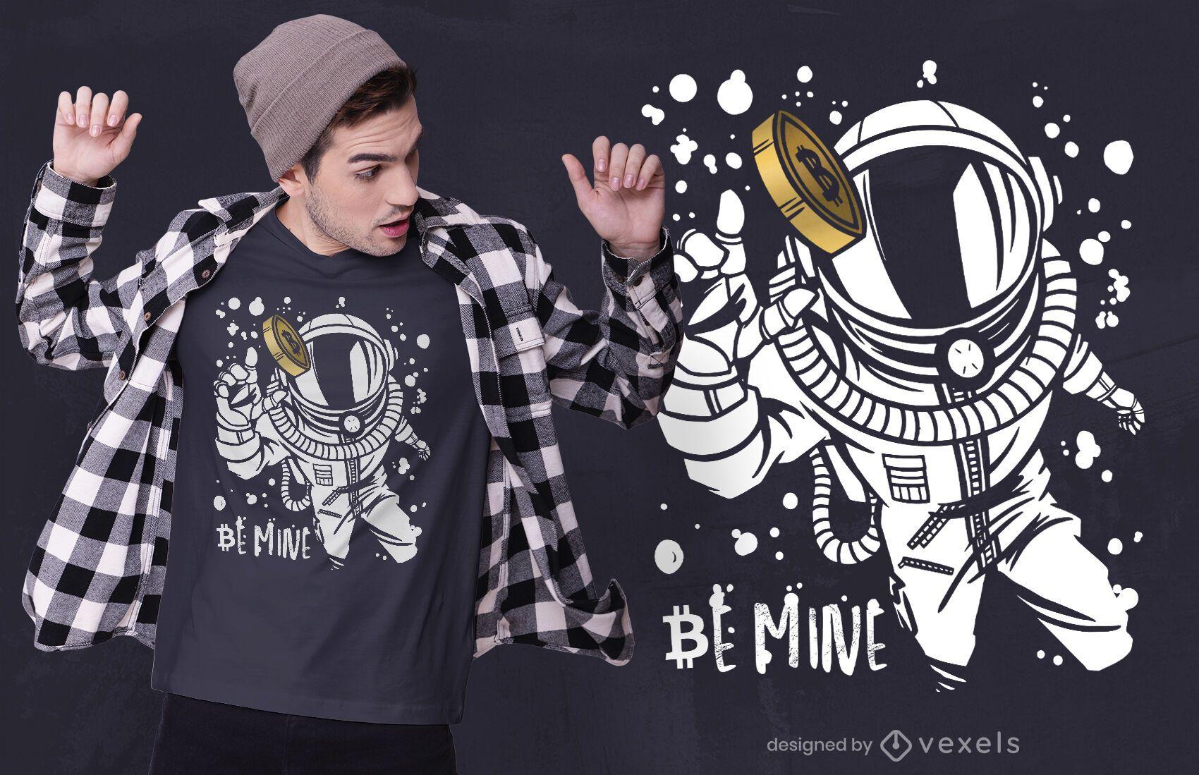 Bitcoin astronaut t-shirt design