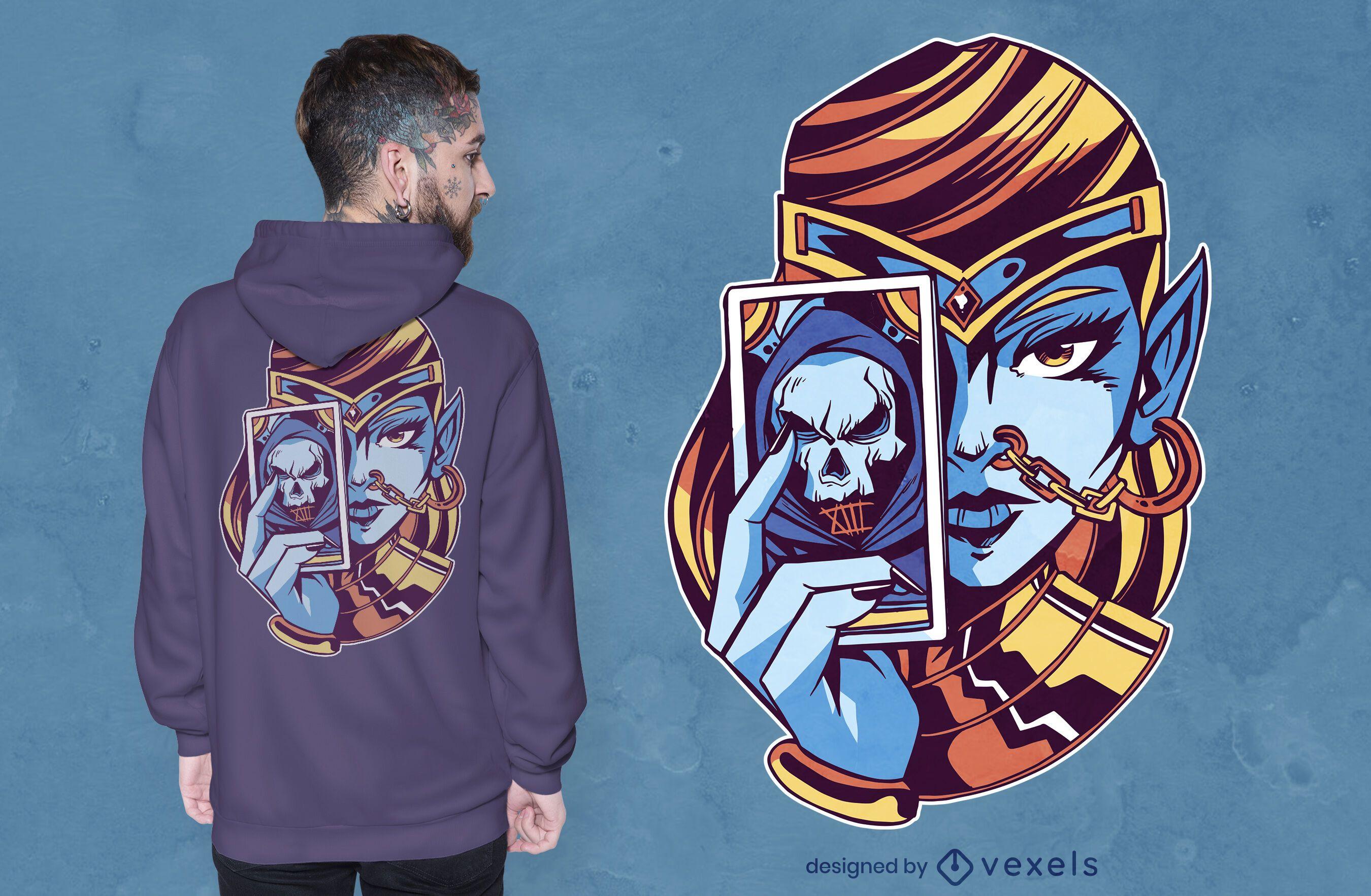 Fortune teller t-shirt design