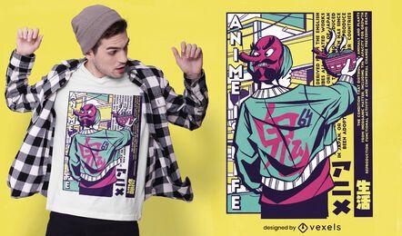 Design urbano de camisetas japonesas