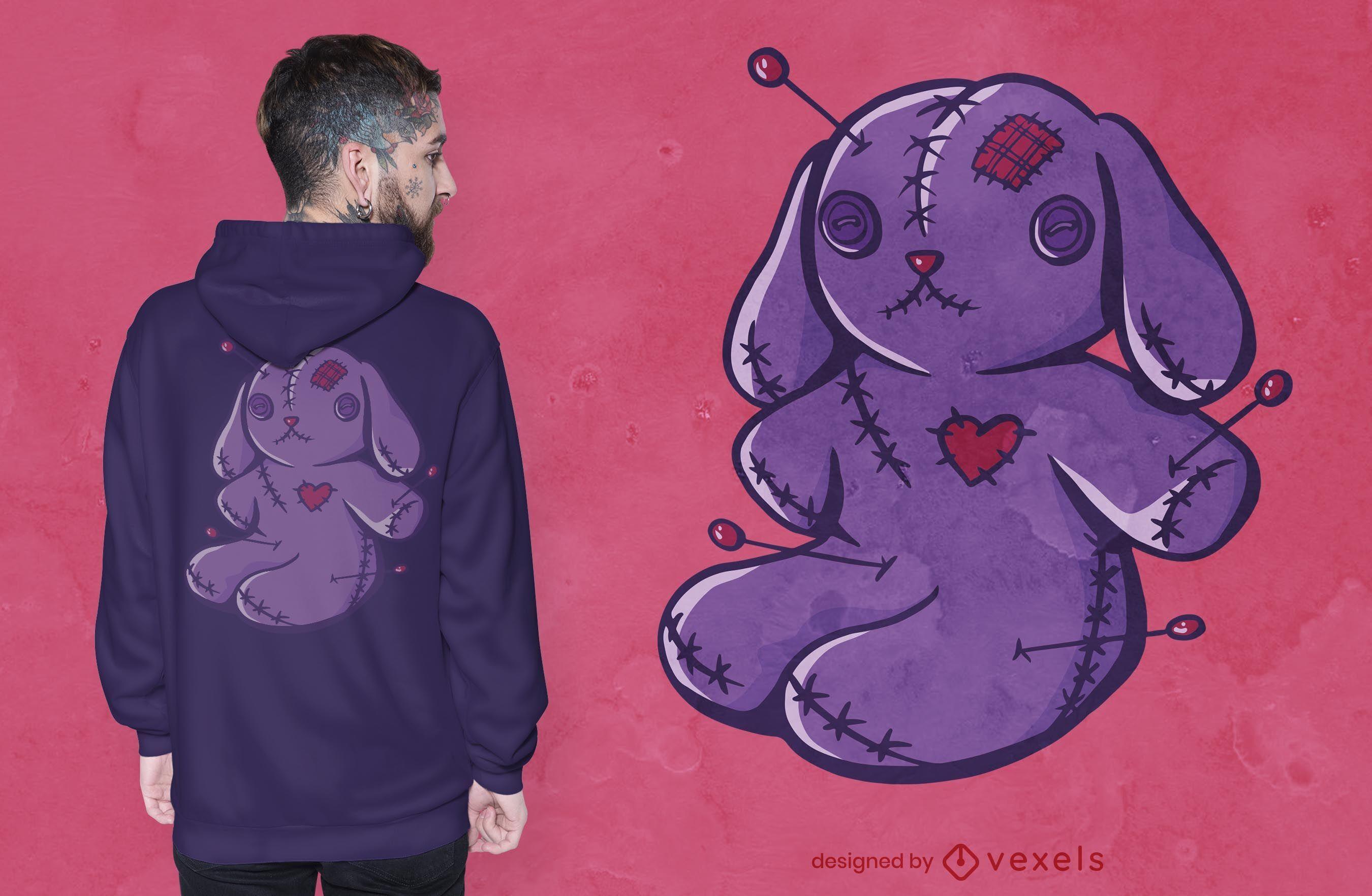 Voodoo bunny t-shirt design