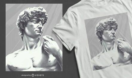 Design de camiseta com a estátua de David