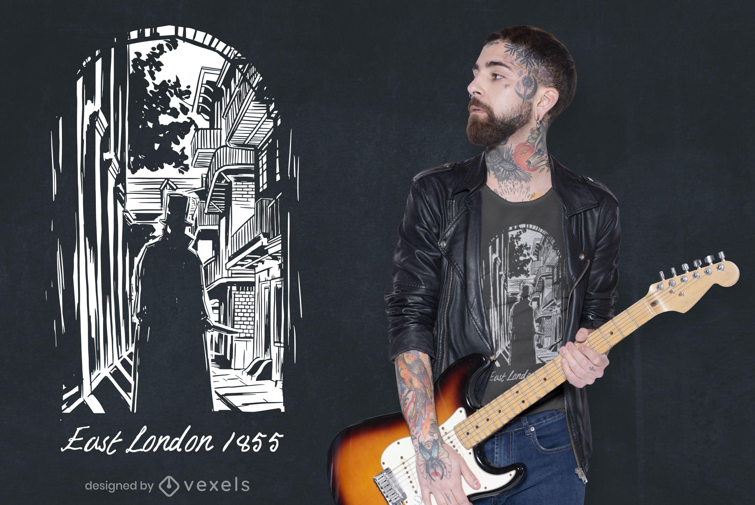 Diseño de camiseta de Jack el Destripador