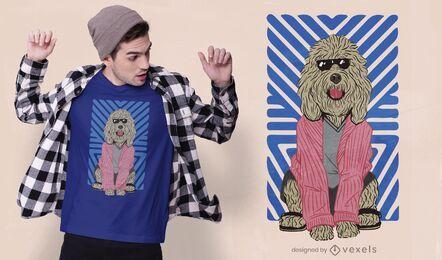 Diseño de camiseta de perro relajado