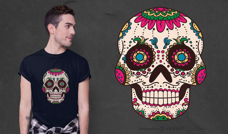 Sugar skull cranium t-shirt design