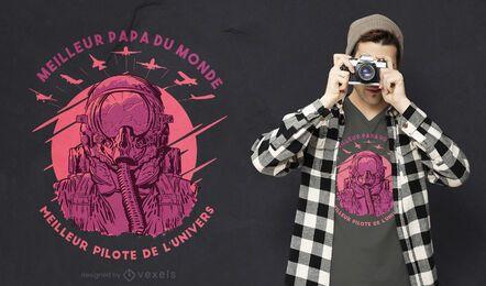 Melhor pai melhor design de camiseta piloto