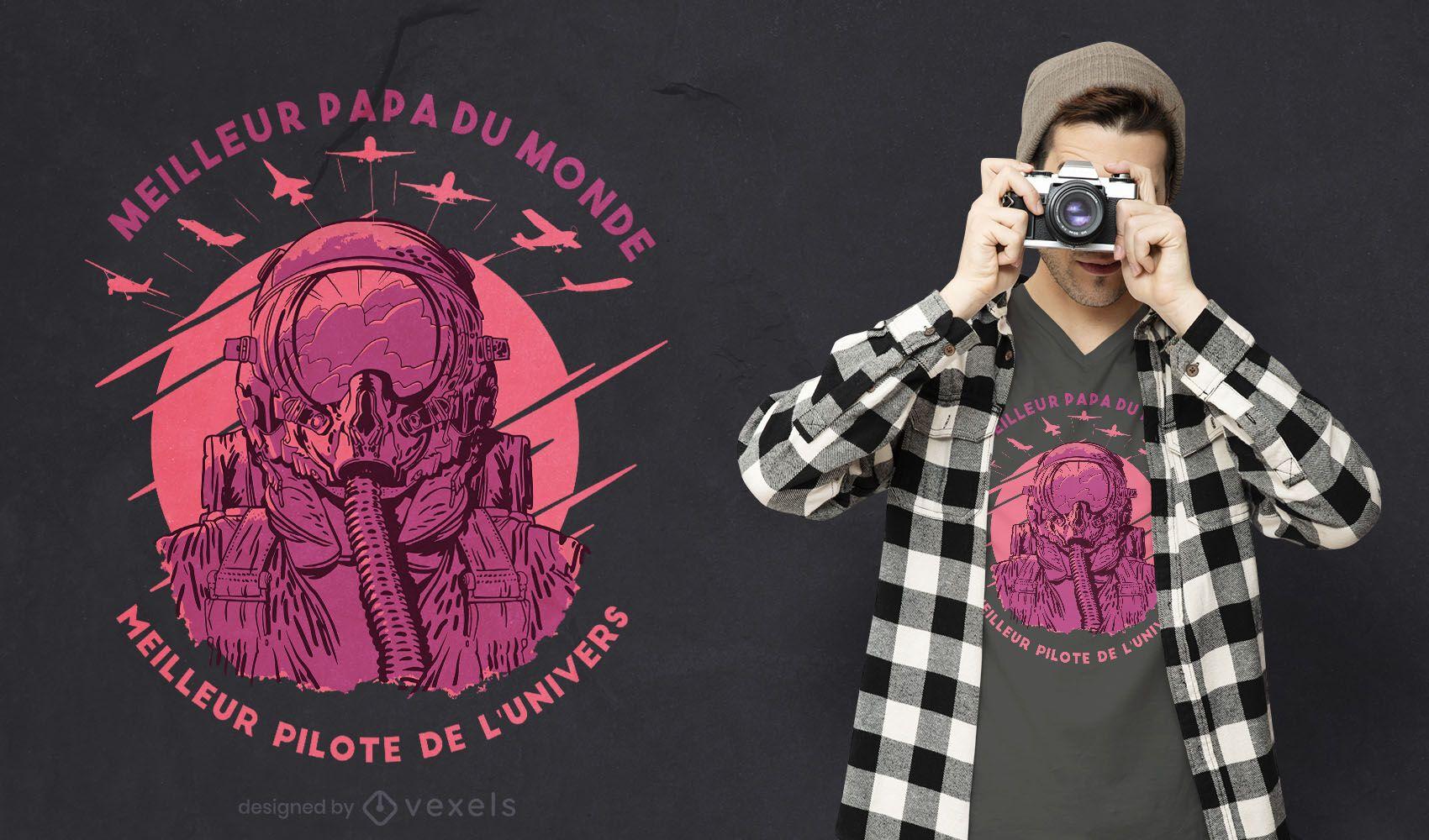 Best dad best pilot t-shirt design
