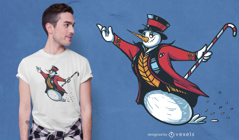 Snowman ringmaster t-shirt design