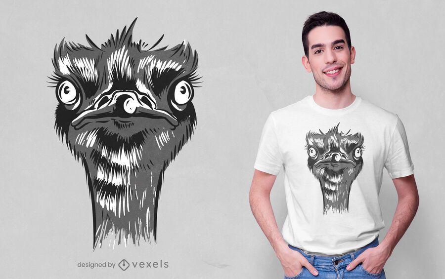 Ostrich head t-shirt design