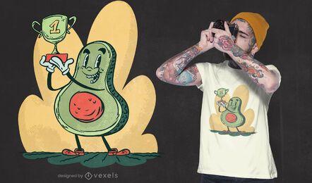 Avocado prize t-shirt design