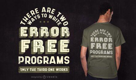 Design de camiseta de orçamento de programador