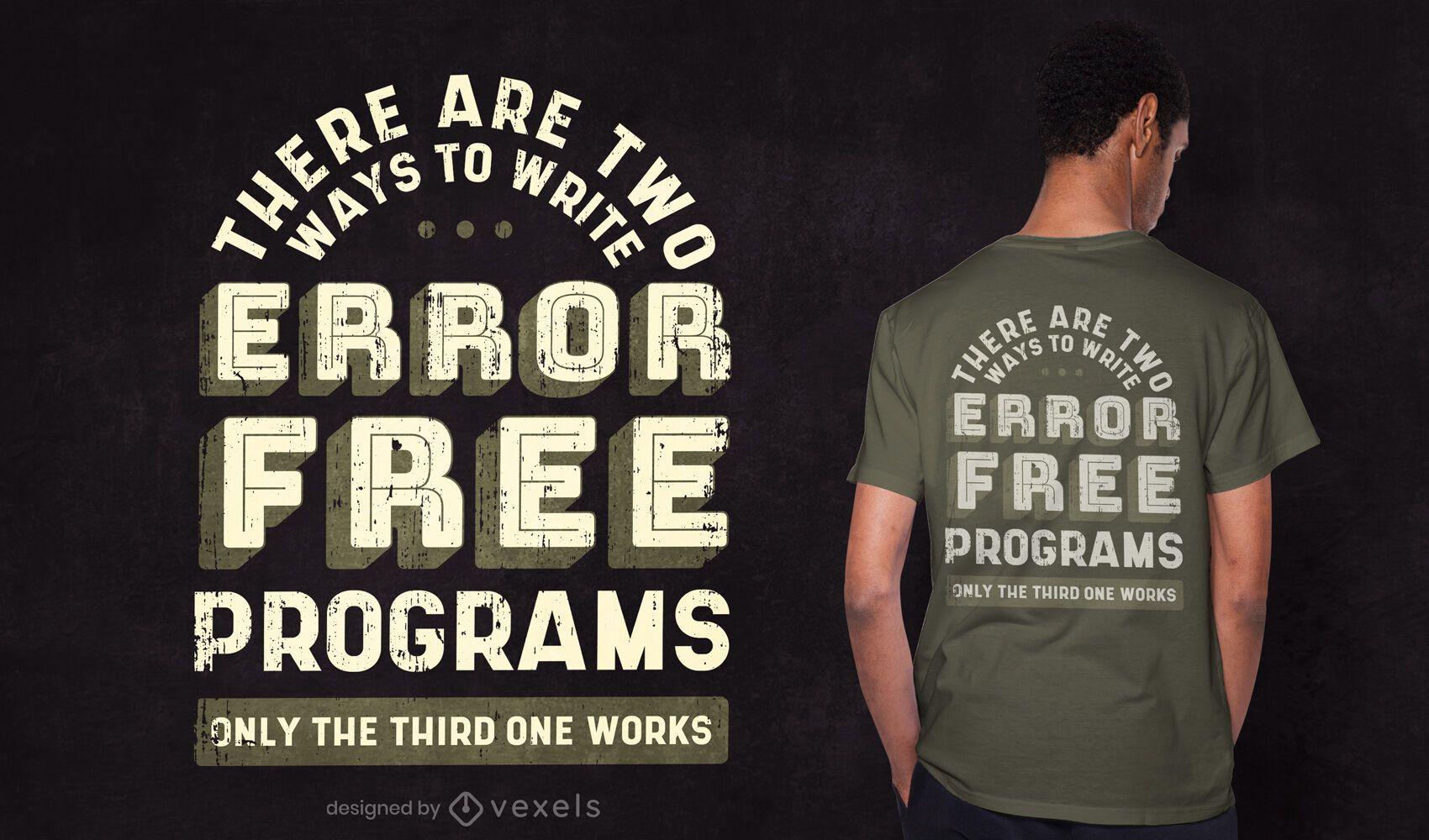 Diseño de camiseta de cita de programador