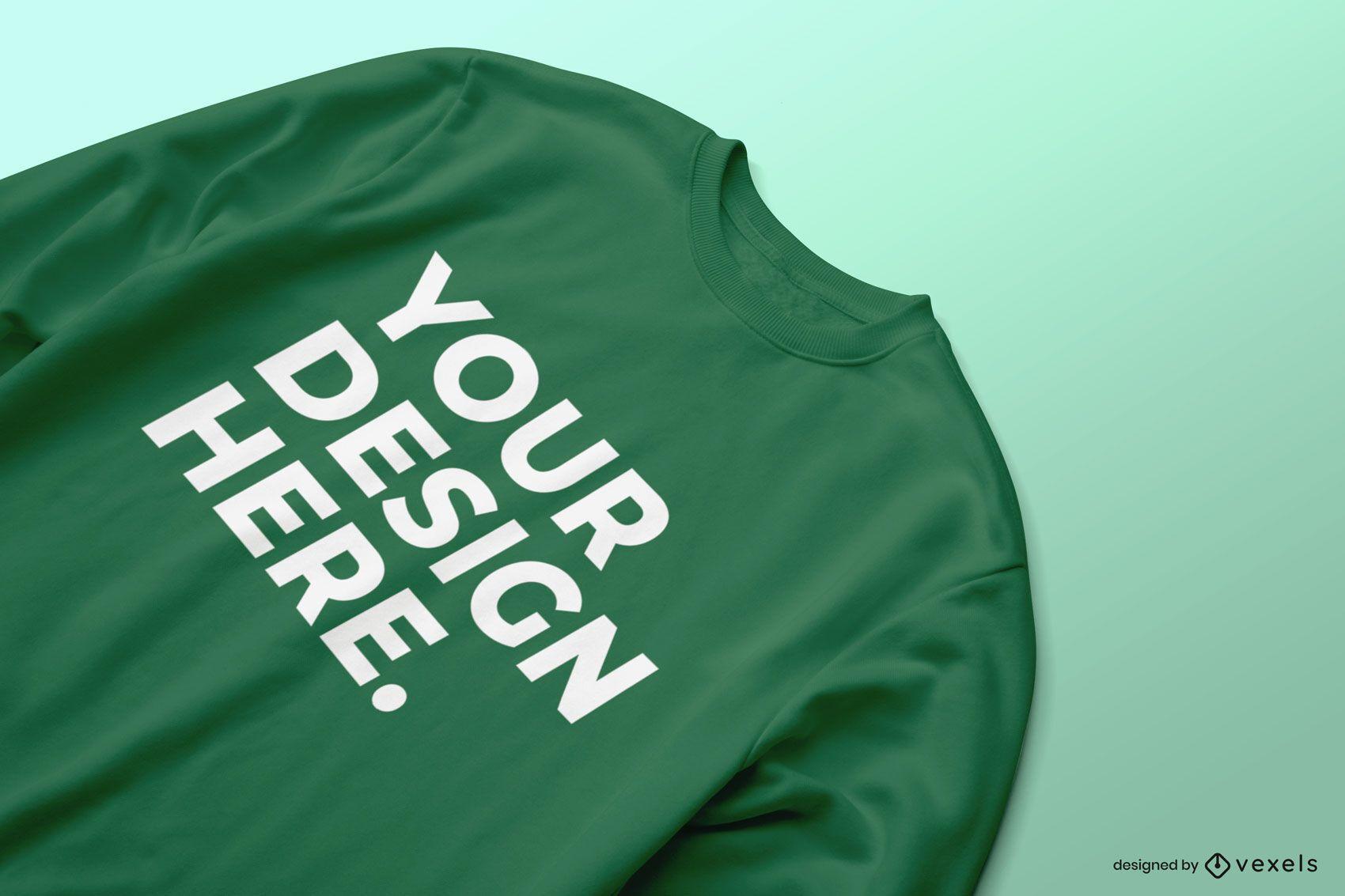 Close-up sweatshirt mockup design