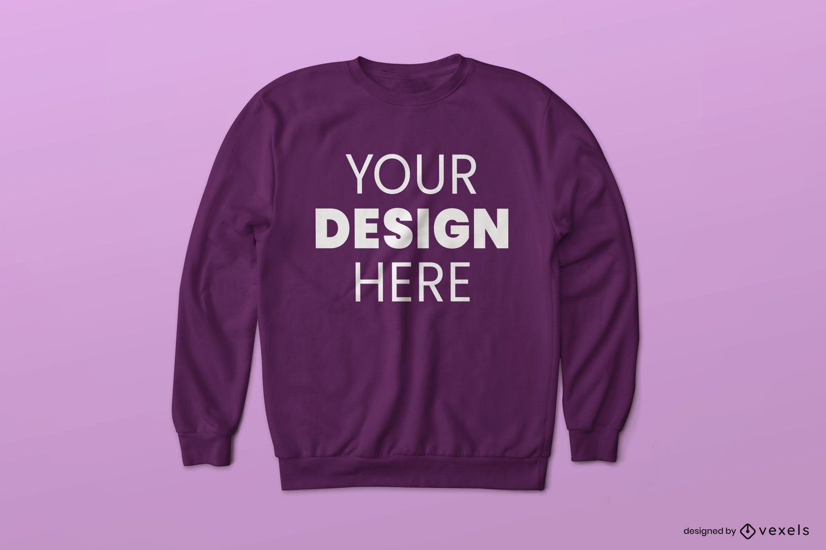 Einfaches Sweatshirt-Modelldesign
