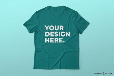 Simple t-shirt mockup design