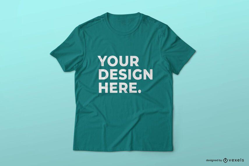 Diseño de maqueta de camiseta simple