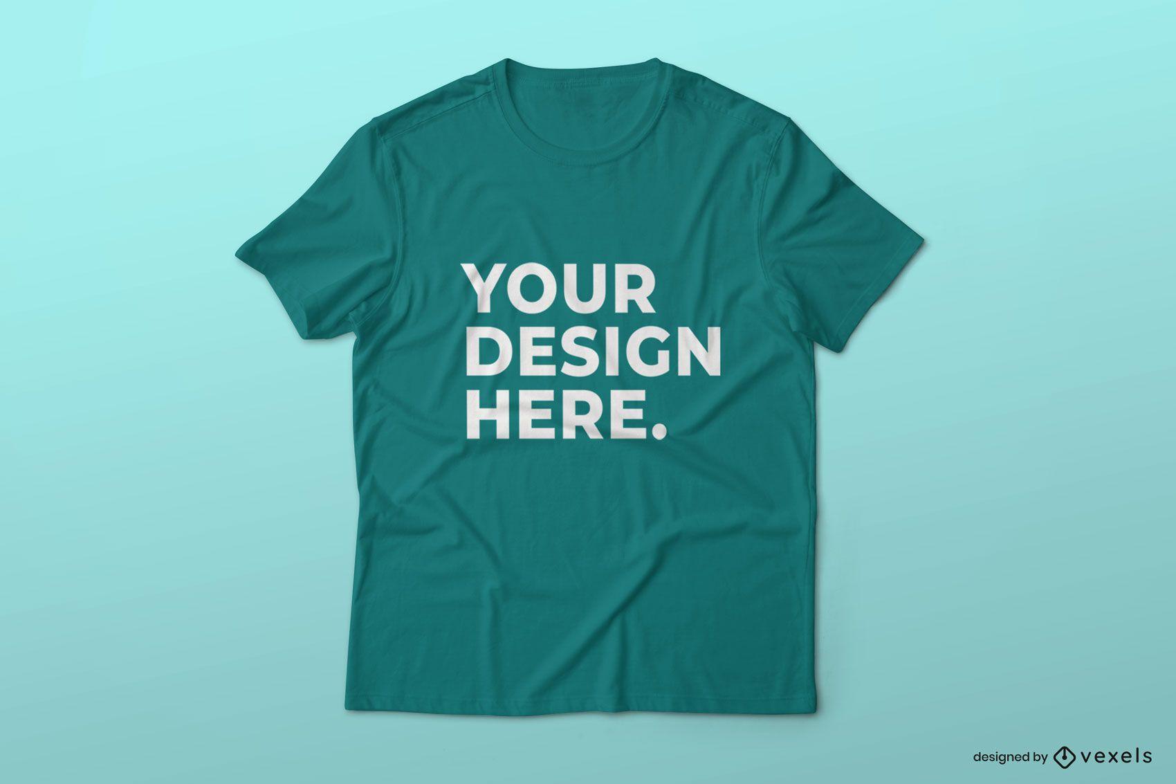 Design simples de maquete de camiseta