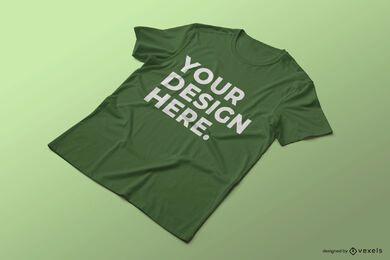 Design de maquete de camiseta enrugada