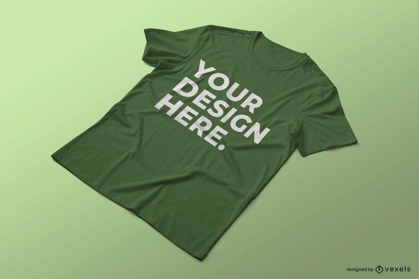 Diseño de maqueta de camiseta arrugada