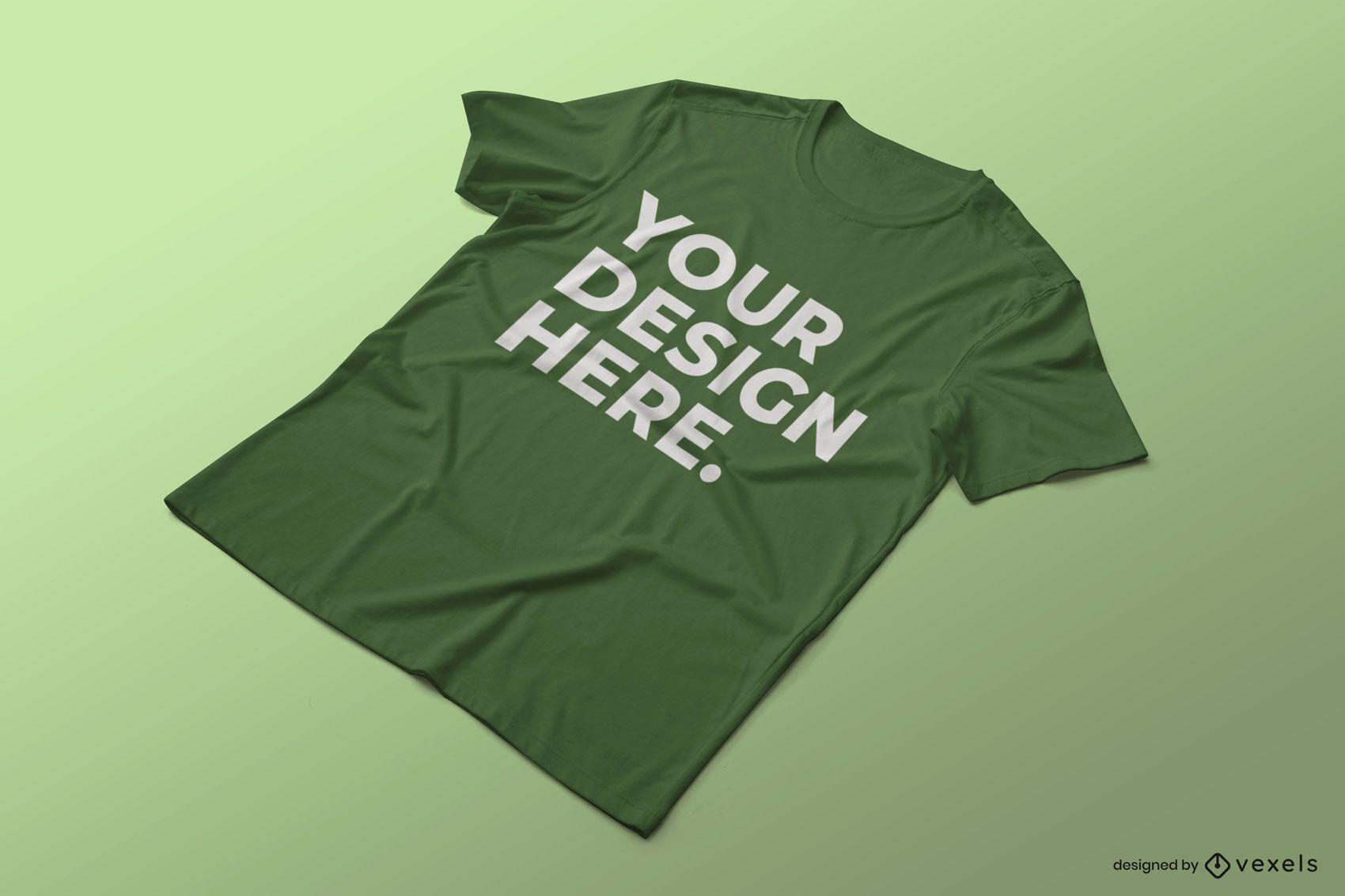 Wrinkled t-shirt mockup design