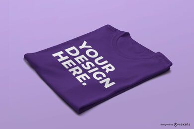 T-shirt folded mockup design