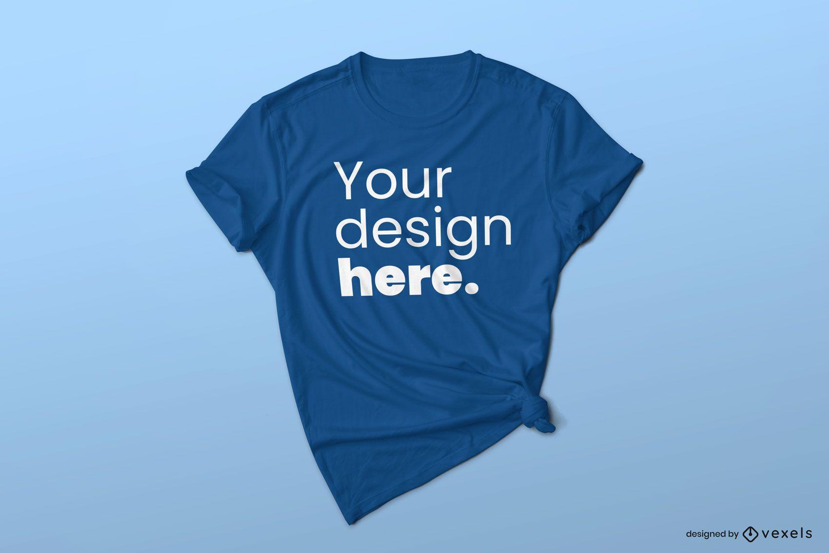 Tied t-shirt mockup design