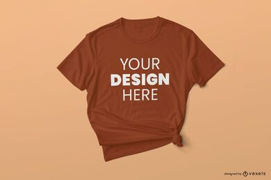T-shirt tied mockup design