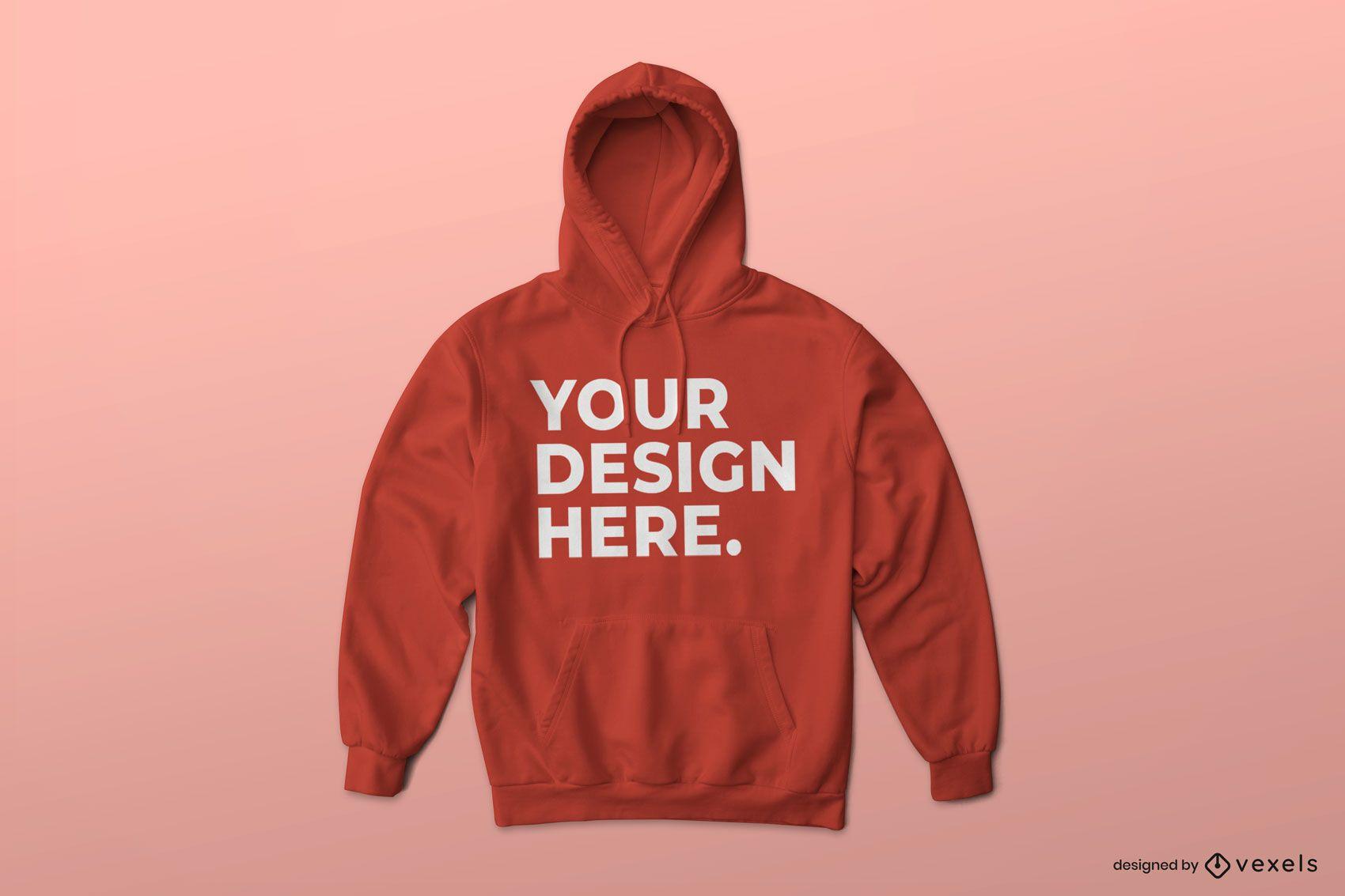 Simple hoodie mockup design