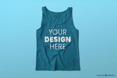 Tank top psd mockup design