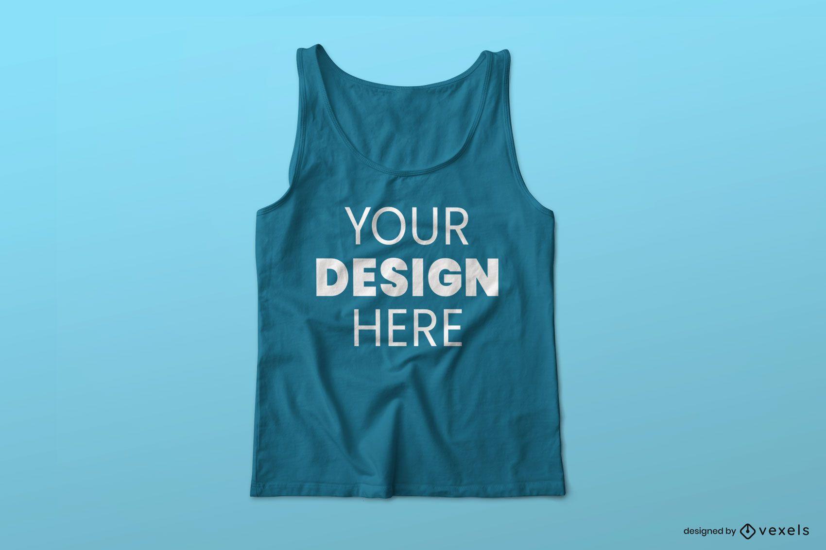 Diseño de maqueta psd de camiseta sin mangas
