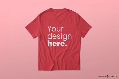 V neck t-shirt mockup design