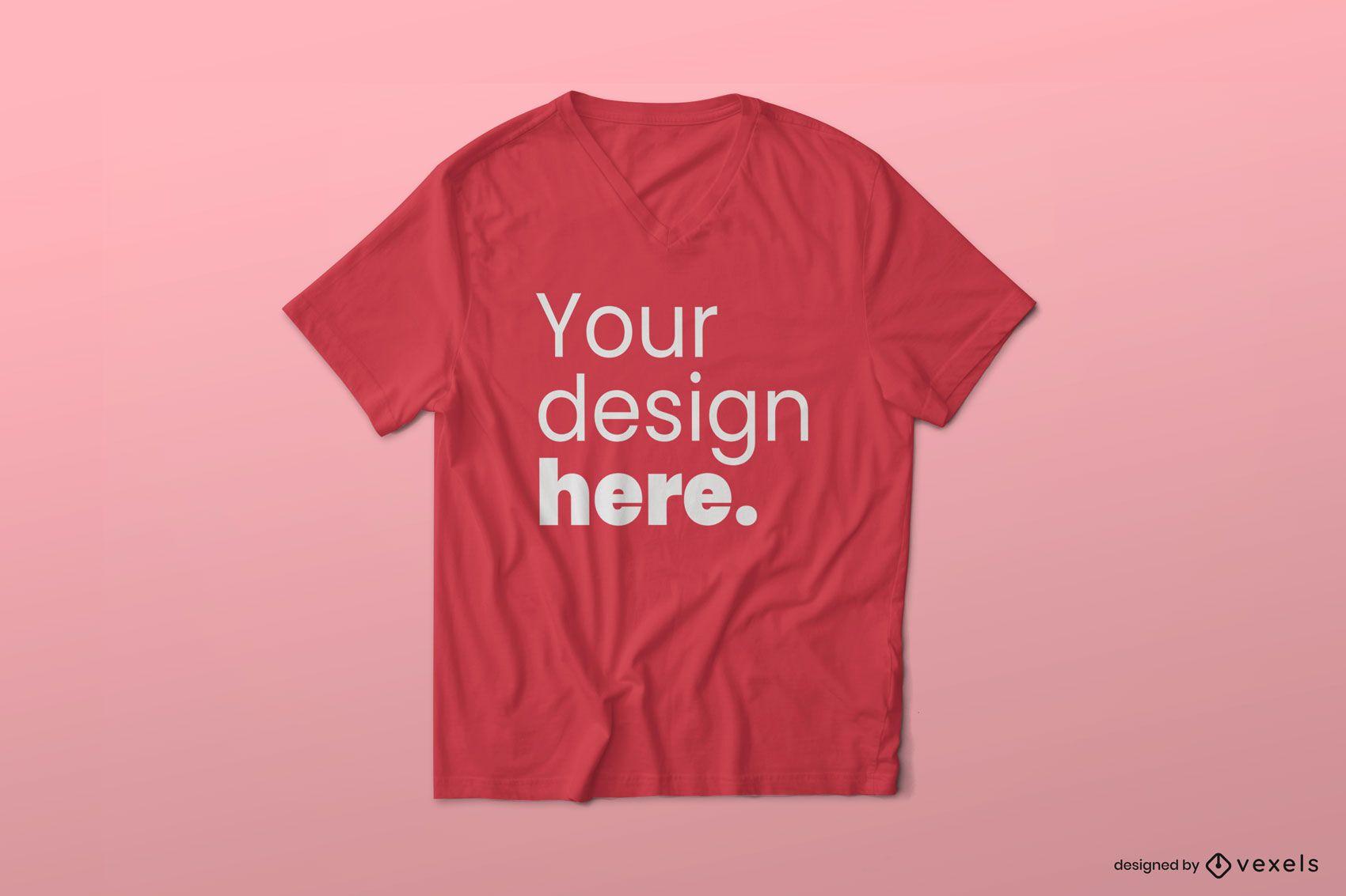 V-Ausschnitt T-Shirt Modell Design